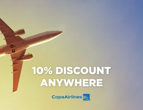 Copa Airlines is happy to offer a 10% discount anywhere it flies.